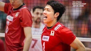 Kunihiro Shimizu 清水邦広 found a Way through the Block! | Men's Volleyball World Cup 2019