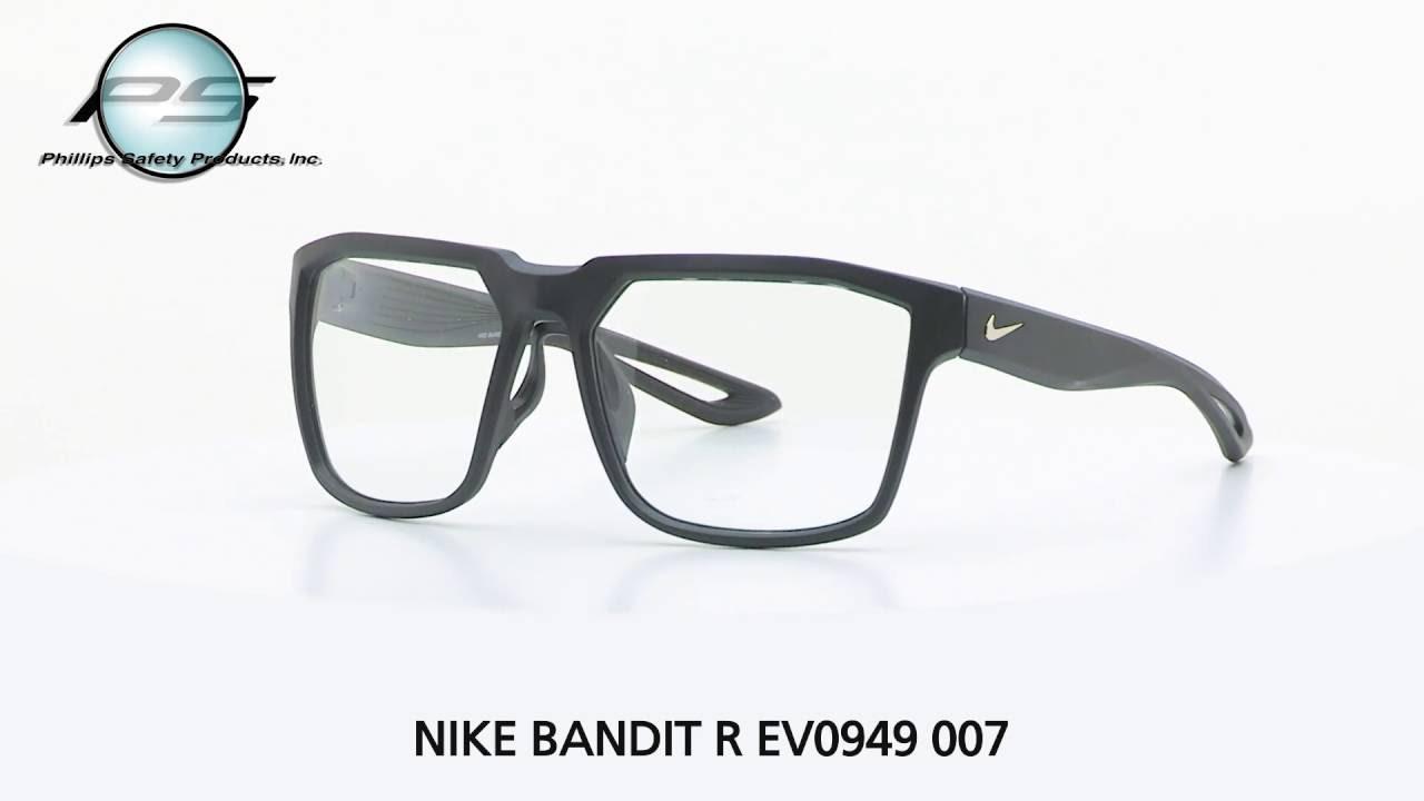 1b2ed3c44b3 Prescription Safety Eyewear NIKE BANDIT R EV0949 007 - YouTube