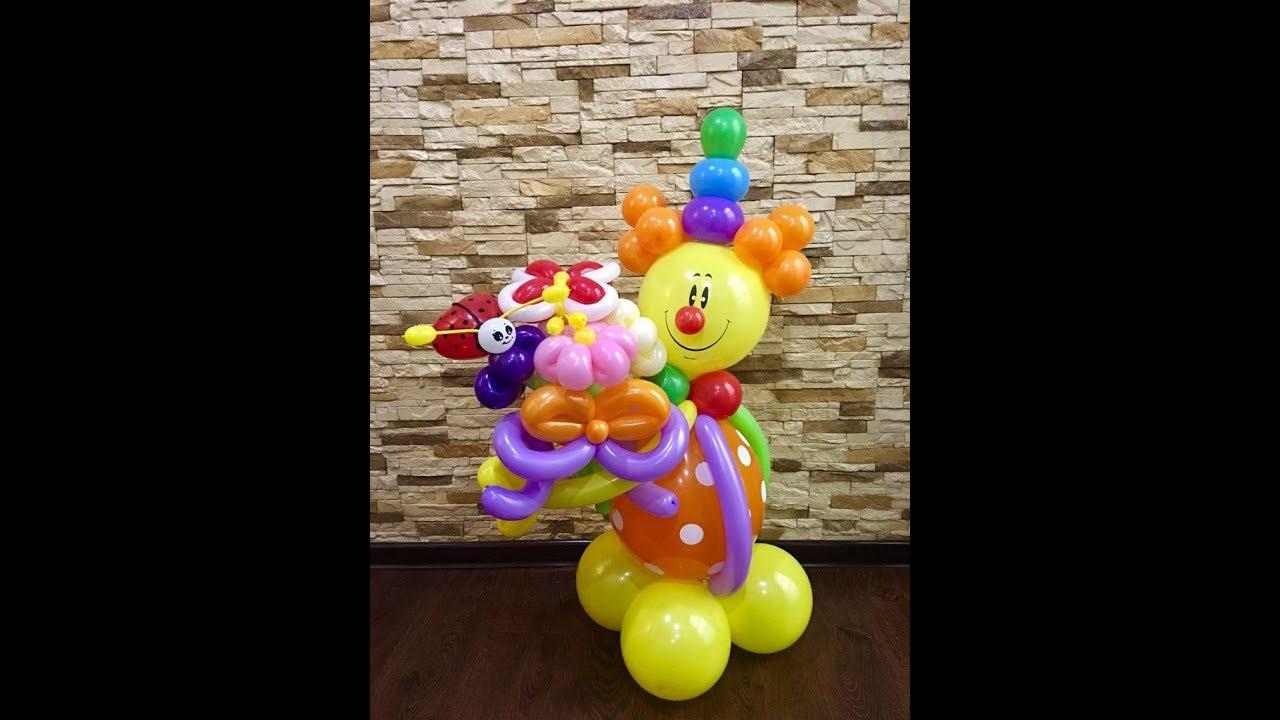 Как сделать клоуна из воздушных шаров фото 228