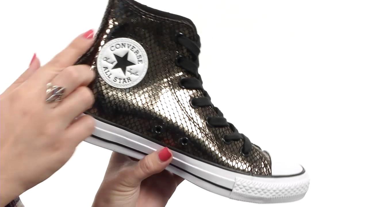 Fashion Converse Chuck Taylor® All Star® Metallic Snake Hi