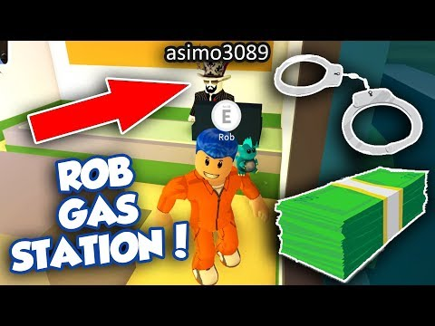 ROBBING GAS STATION UPDATE IN JAILBREAK! (Roblox)