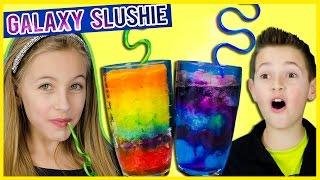 LIGHT UP GALAXY & RAINBOW SLUSHIE PINTEREST DIY! FUN EASY FROZEN DRINK RECIPE