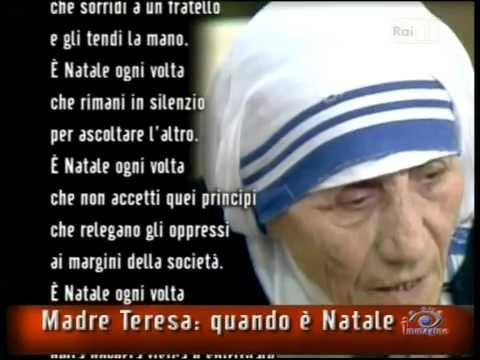 Amato Madre Teresa di Calcutta e una meditazione sul Natale - YouTube IR94