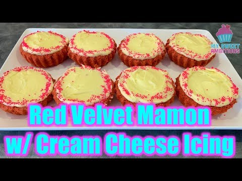 Red Velvet Mamon with Creamcheese Frosting