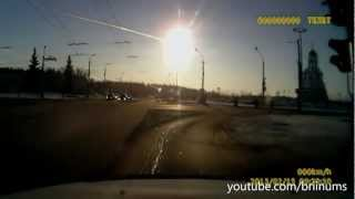 Meteor hits Russia 2013 video compilation 15.02.2013(Videos compilation of meteorite explosions in the skies of Russia's Urals region has sparked panic in three major cities. Witnesses said that houses shuddered, ..., 2013-02-15T23:05:39.000Z)