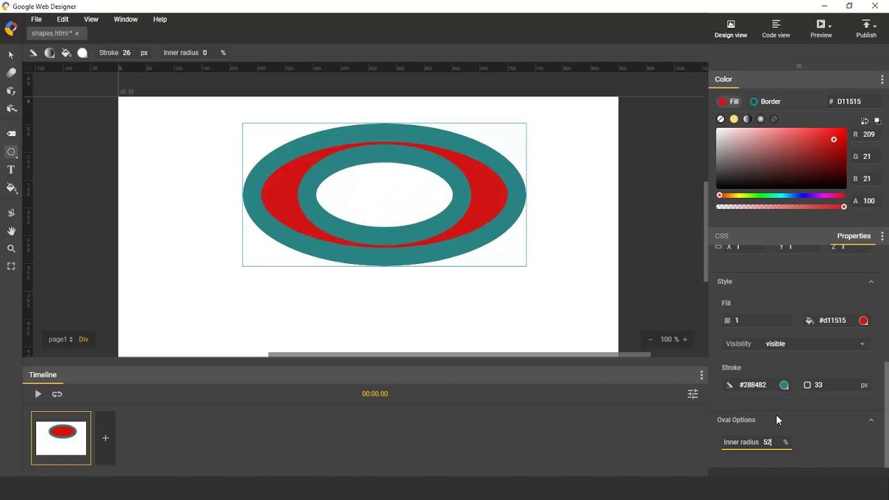 Shapes Overview Google Web Designer Youtube