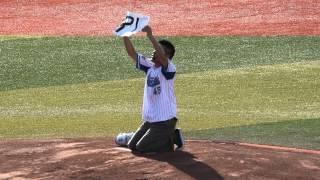 2015.8.9 横浜スタジアム 俳優柳沢慎吾さんによる始球式イベント 一昨年...