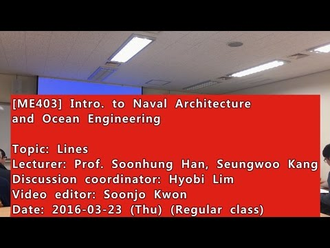Introduction to Naval Architecture and Ocean Engineering : Lines