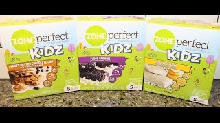 Zone Perfect Kidz Nutrition Bars: Pb Chocolate Chip, Fudge Brownie & Yellow Cupcake Review