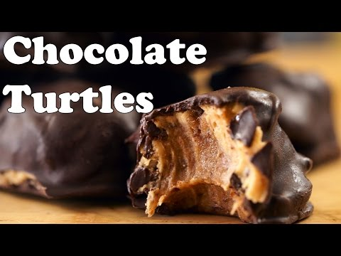 Raw Vegan Chocolate Turtles – Dessert Recipe