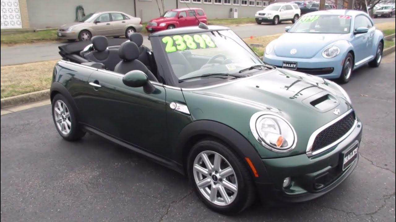 2013 Mini Cooper S Convertible Walkaround, Start up, Tour ...