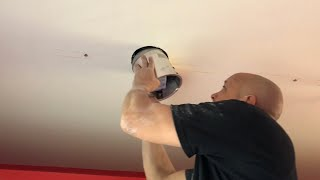 How to Run Wires Easily Through Ceiling with Without Drywall Damage.  Installing Recessed Lights.