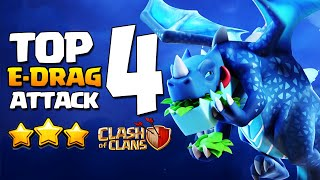 Best TOP 4 Electro Dragon Attack Strategy | New Electrone Mass Electro Drag Attack Clash of Clans