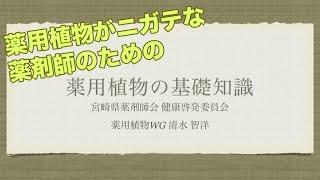 【ミニ講演】薬用植物がニガテな薬剤師のための基礎知識 宮崎県薬剤師会 薬用植物研修会
