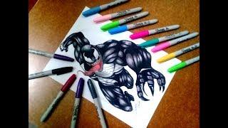 Dibujando a  Venom | Speed Draw | Ilustration Venezuela | How To Draw Venom