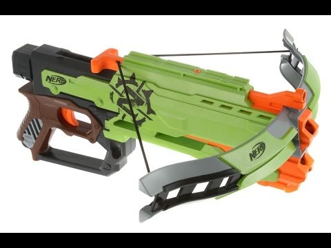 NERF Zombie Strike Crossfire Bow Unboxing And Review