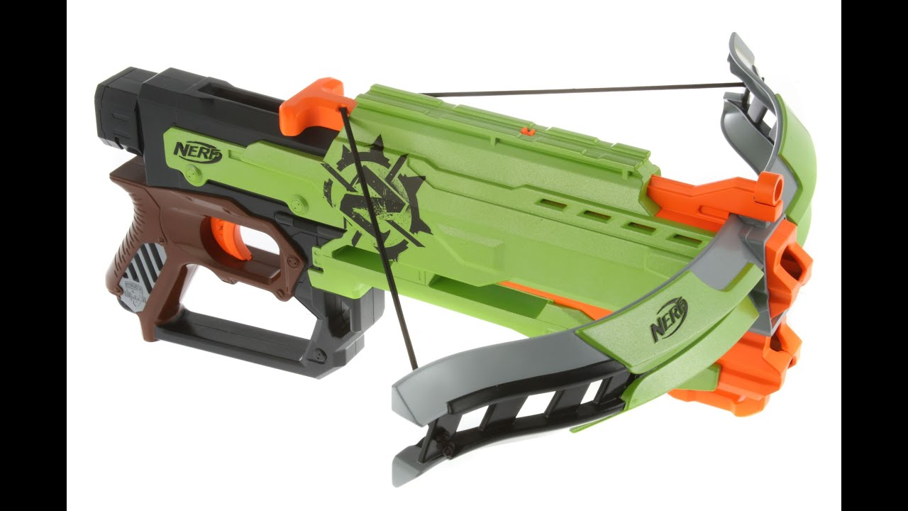 nerf zombie strike crossfire bow unboxing and review youtube
