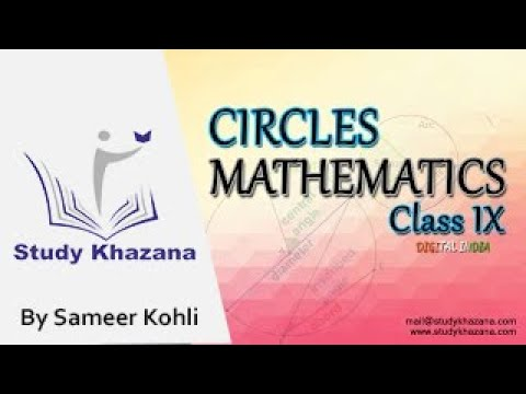 Circles (Part-1) | Class 9 | Mathematics | Geometry (NCERT) || Study Khazana