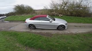 2018 Mercedes Benz C250 Cabriolet  Diesel AMG Line  POV Driving 0-60 Acceleration Car review HD