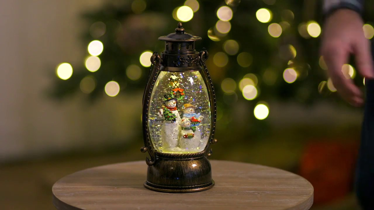 Snowmen Water-Filled Lantern (3WGL165) from Cypress Home