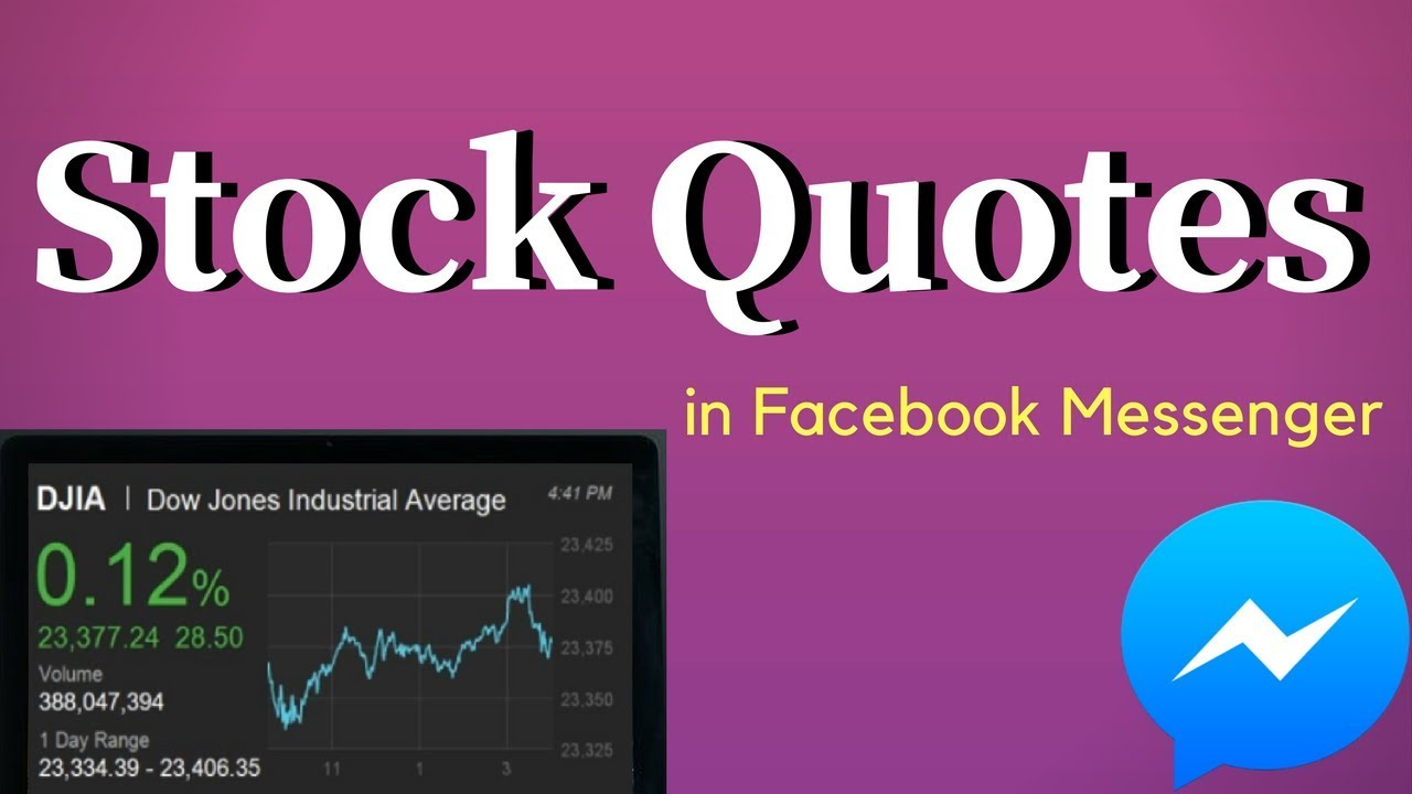 Facebook Stock Quote How To Get Stock Quotes In Facebook Messenger  Youtube