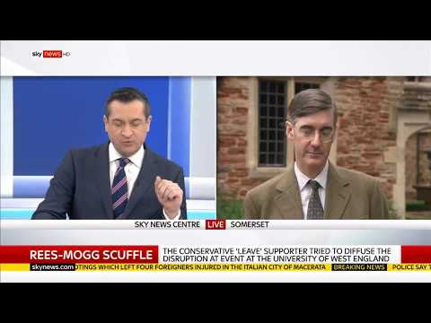Jacob Rees Mogg Acts like A Gentleman in the Face of Antifa Scum