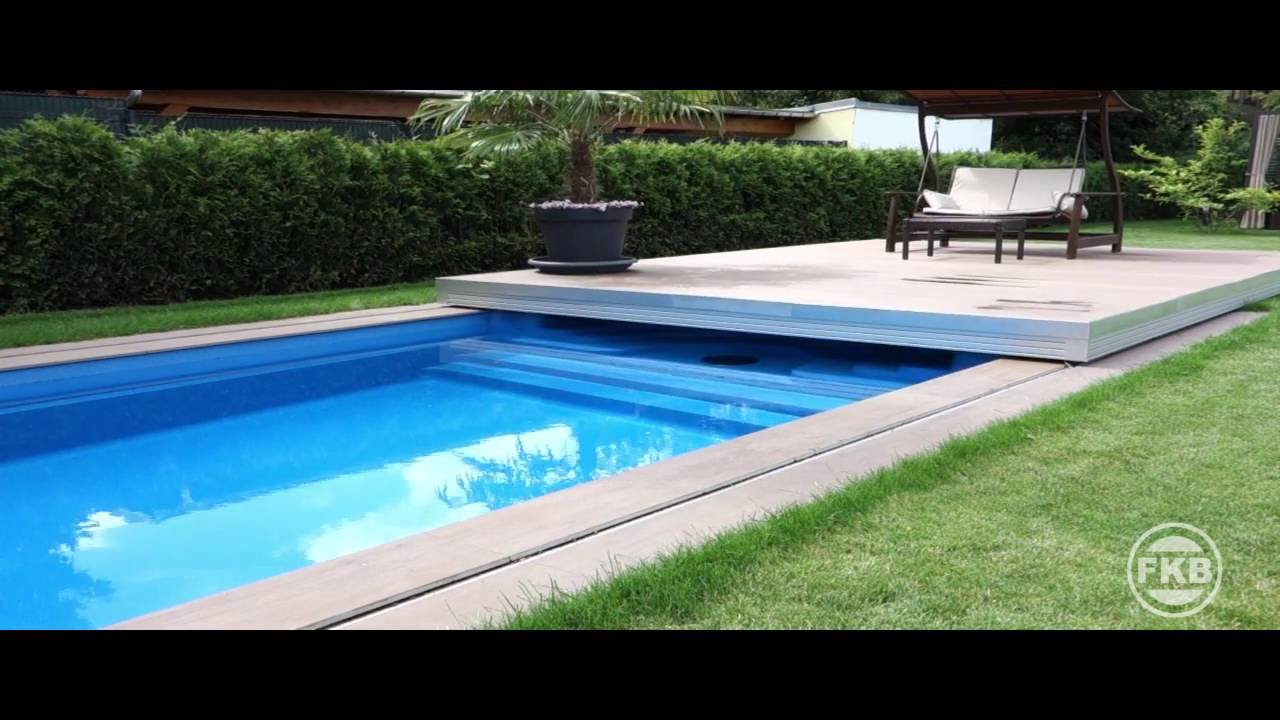 automatische schwimmbad abdeckung pool terrassendeck youtube. Black Bedroom Furniture Sets. Home Design Ideas