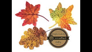 Bridgit's Quilling Autumn Leaves (Tutorial)