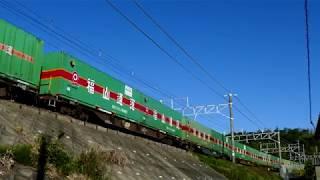 2019/05/30 JR貨物 澄みきった青空 朝の定番貨物列車4本