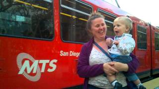 Felix loves the San Diego Trolley