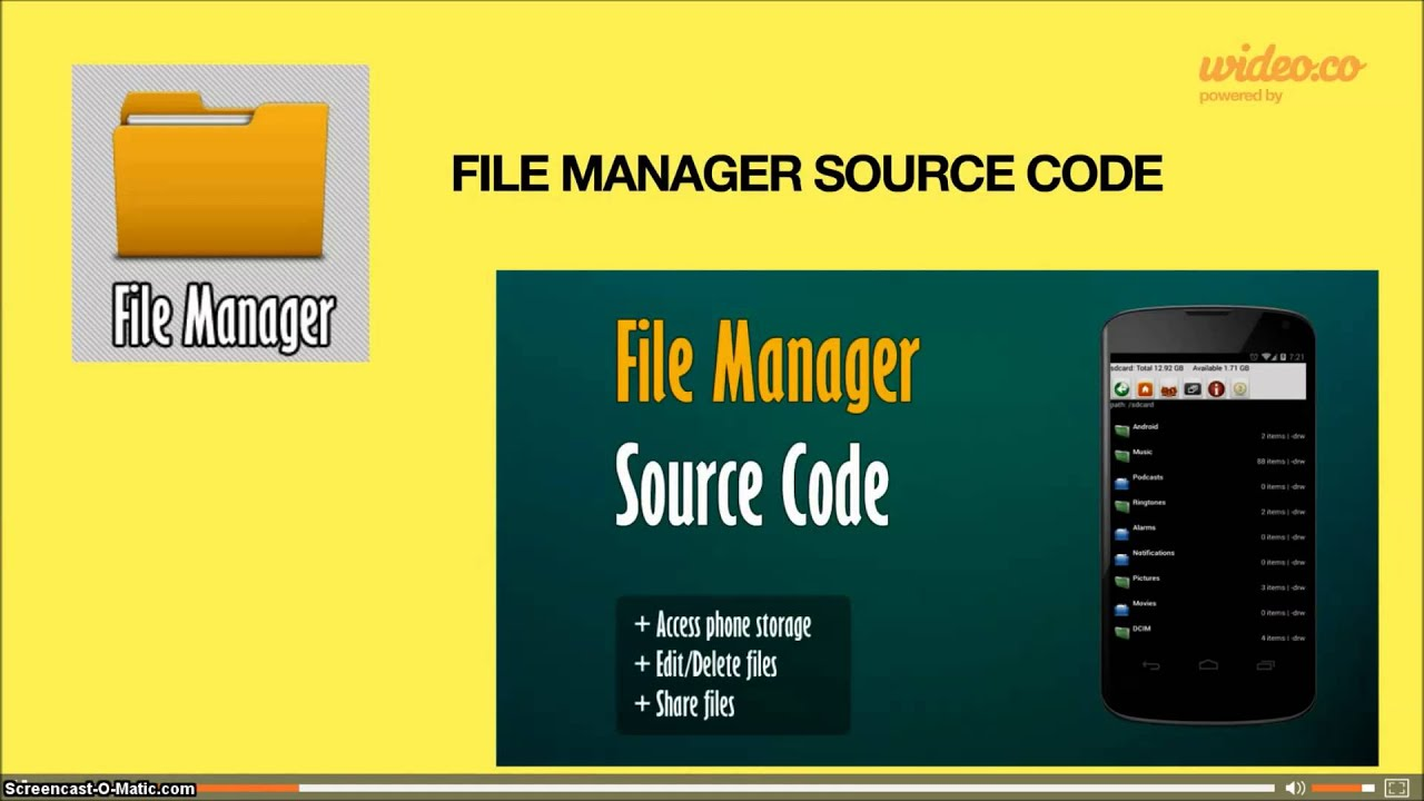 android file manager source code