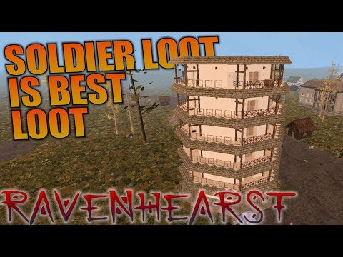 SOLDIER LOOT IS BEST LOOT | Ravenhearst MOD 7 Days to Die | Let's Play Multiplayer Gameplay | S03E04