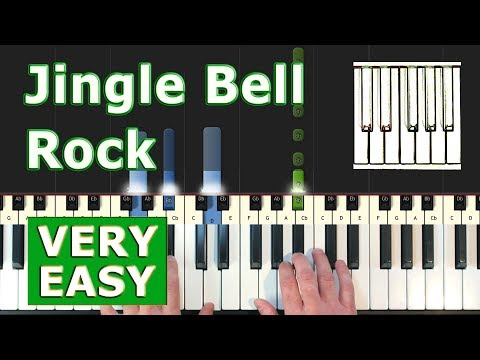 Jingle Bell Rock - VERY EASY Piano Tutorial (Synthesia)