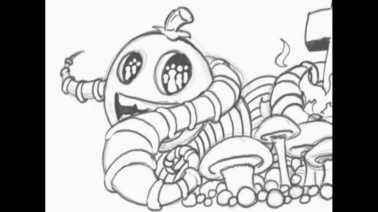 Coloring Pages Mushroom House Stock Images Image 36023594 ...