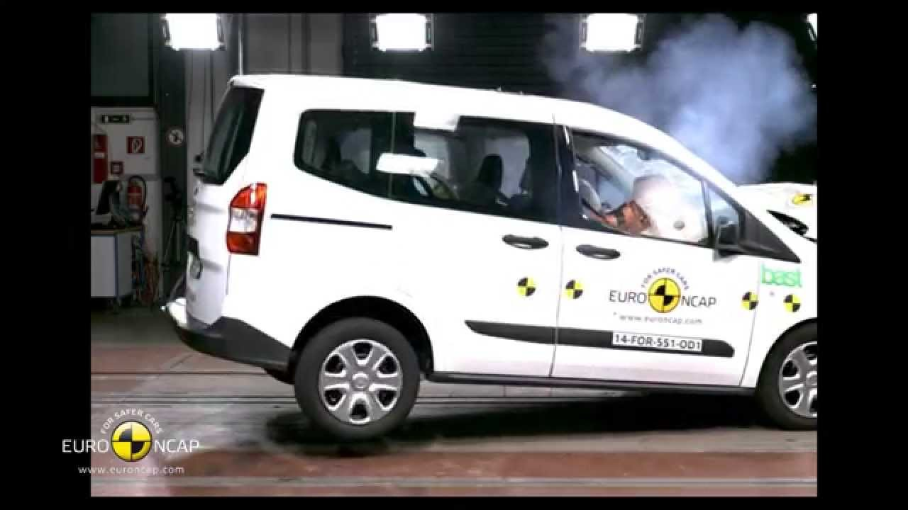 Euro Ncap Crash Test Of Ford Tourneo Courier 2014 Youtube