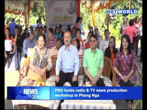 PRD holds radio & TV news production workshop in Phang Nga