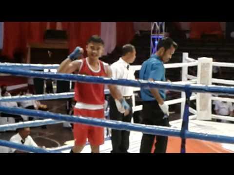 Kejurnas Tinju Amatir Kapolri Cup I Jambi  Nover Wijaya Pukul KO Petinju NTB Hamudin Senin 17 Juli 2