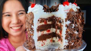 No Cook Black Forest Cake. Gawin Na Ang PinaKa Hassle Free Na Cake Para Sa Kahit Anong Okasyon
