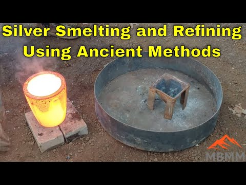 Silver Smelting & Refining From Film With Ancient Techniques