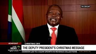 Deputy President David Mabuza's Christmas message