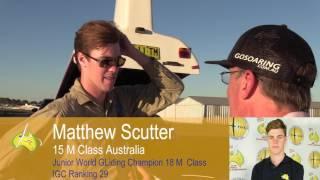 Matthew Scutter 15 M Class Australia after landing WGC Benalla Produced by Sean Young