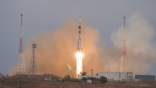 LIVE Soyuz MS-08 Launches ISS Expedition 55-56 Crew (Artemyev, Feustel, Arnold)