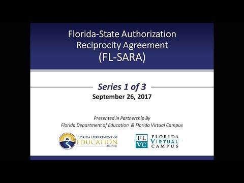 Florida-State Authorization Reciprocity Agreement (FL-SARA) - Webinar 1