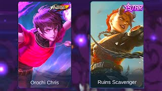 Dyrroth Ruins Scavenger Skin VS Orochi Chris Skin | Mobile Legends: Bang Bang