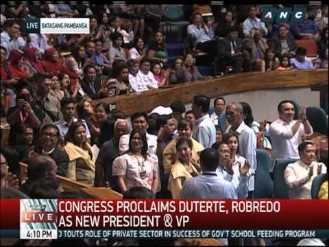 Duterte, Robredo proclaimed