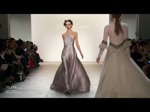 White satin dresses on the fashion runway (Leanne Marshall)