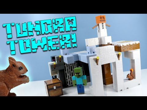 Minecraft Survival Mode Playset Tundra Tower Expansion Mattel Toys Huge!