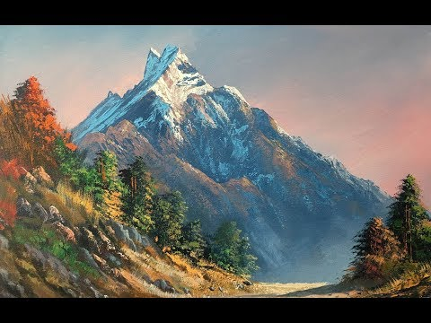 Painting a Beautiful Mountain Landscape with Acrylics | Art Candy
