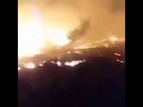 Live Video of Fire in Occupied Palestine's area 24th November 2016,the biggest fire in its history