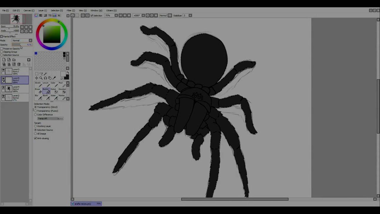 Dibujando una araña para halloween | Speedpaint - YouTube
